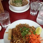Beef soup and pad thai