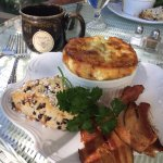 Southwest Egg Souffle and the most amazing chocolate chip scone!