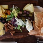 The Cheeseboard with homemade crackers