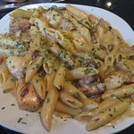 Pasta of the Day - Chicken & Sausage w/bechamel sauce on penne pasta