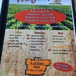 Wing menu