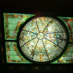 Restored stained glass ceiling