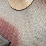Threadbare patch on the carpet