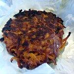 a sweet potato pancake