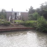 Our Shepherds Hut looking from the Moat