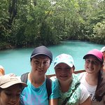 Rio Celeste waterfall and rain forest hiking at Tenorio Volcano National park.