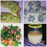 TORTELLINI GENOVESE, garlic bread, SLICED CHICKEN BRACIOLENTINI and a Bellini