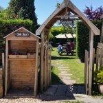 Entrance to beer garden.