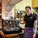 Johnny making best espresso in Shetland
