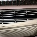 Broken air conditioning grille