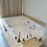 In-room double whirlpool tub! Comes with bubble bath