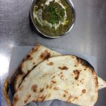 Palak Dish with Naan Bread