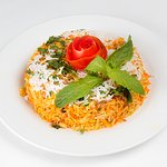 Biriyani Rice any choice chicken,Lamb,seafood or Vegetable