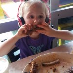 4 years old and loves her some ribs