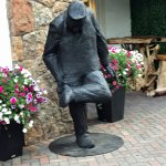 One of many of the sculptures around the Vail Village - gum