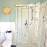 The newly renovated Bay Room bathroom