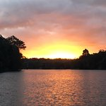 Stunning sunset as we cruised up the river. Photo doesn't give it justice.:)