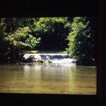 Waterfall near zoo.