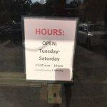 hours on door