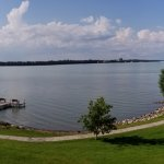 Lake Bemidji from our 2nd floor room.