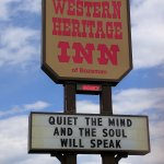 Western Heritage Inn wisdom message
