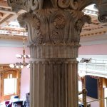 One of the columns in the balcony of the House of Reps chamber.