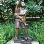 Grapevine Botanical Garden- Statue in the butterfly garden