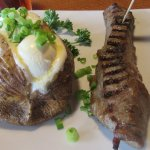 Baked Potato and Sirloin Steak (6 oz), The Sizzler, Indio, CA