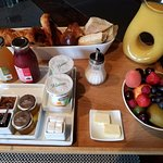 Gorgeous Breakfast Tray at Chateau Chassagne Montrachet