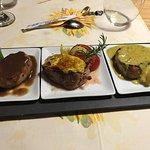 Solomillo ibérico con 3 salsas