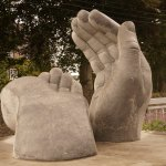 Healing Hands is a sculpture by Shane Gilmore, installed at Ss. Peter & Paul Cathedral in Ennis