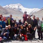 Mit einem Deutsche Gruppe am Basislager der Everest (5200m)