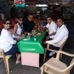 Try local food with our US guest in udaipur