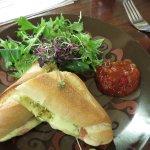 Ficelle roll with mozzarella & tomato