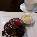 "GF orange chocolate pudding. Good combination of flavours- ""very jaffa like"""
