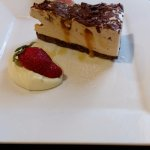 mars bar cheesecake- base slightly hard to cut, but cheesecake a lovely blend of flavours