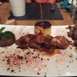 """Une belle expérience de plats corse typiques menu """"sanglier"""" terrine et civet puis filet mignon"""