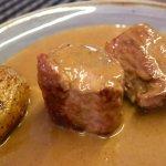 肉料理フォアグラソース