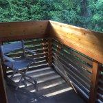Balcone con vista bosco
