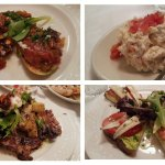 Free tomato toasts, Russian salad, octopus and white anchovies