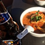 Chicken Curry and Tiger Beer