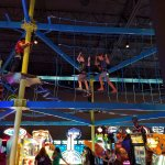 Overhead rope course & games