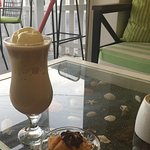 Iced coffee to die for and a gorgeous selection of Greek pastries.