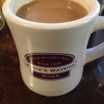 Fresh cup of coffee at Whites Wayside