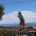 Kids basecamp has a small (keyword small) ropes course.