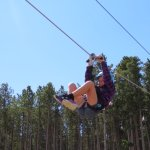 kids zipline, it's not big but fun for maybe 9 and under.