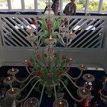 An incredible capodimonte-like chandelier