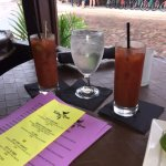 Bloody Marys and menu