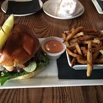 California Burger with fries. So GOOD!