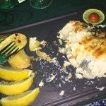 Vis met honing en de zeevruchten paella